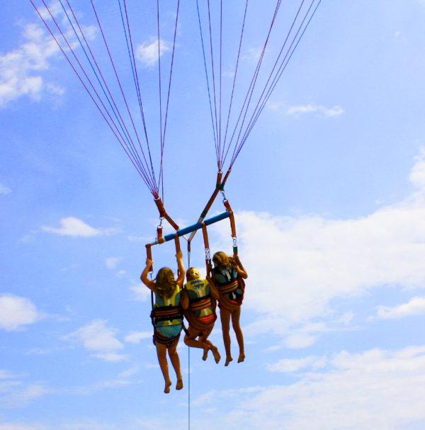 Glisse Evasion parachute ascensionnel Villefranche Sur Mer Saint Jean cap Ferrat Beaulieu